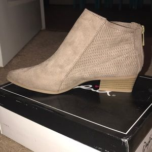 Qupid Taupe Ankle Booties